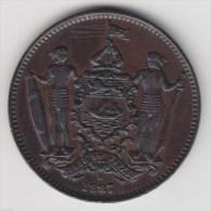 @Y@   British North Borneo 1 Cent 1887 H Malaysia ( 2803) - Malaysie
