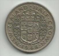 New Zealand 1/2 Crown Half 1948. - New Zealand