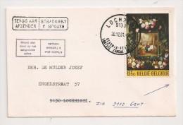 BRIEF LETTRE 1981 Lochristi  Terug Aan Afzender / Woont Niet Meer Op Het Aangeduide Adres - België