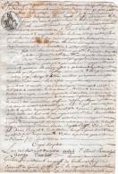 VP2803 - Haute Savoie -  Empire - GENEVE - Acte Concernant Dame BRISSON à VILLE LA GRAND - Manuscripts