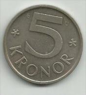 Sweden 5 Kronor 1976. - Schweden