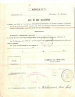 Relais Corroy-le-Chateau Sur Document Administratif - WW I