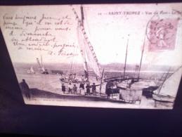 DIAPOSITIVE PHOTO DE CARTE POSTALE ANCIENNE - SAINT TROPEZ UNE VUE DU PORT(LOTAB30) - Diapositives