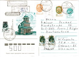 Ukraine - Nice Reg.- Cover Fr. Odessa 1992 - Mixed Franking Provisorium / Overprint. Rare! - Ukraine