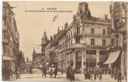Nancy Le Point Central Et La Rue Saint Jean Banque Opticien - Nancy