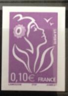Timbre Violet 0,10 Cts France Non Dentelé Y/T Yvert Et Tellier N°3732 Avec Une Bande Phosphore à Droite Rare ! - France