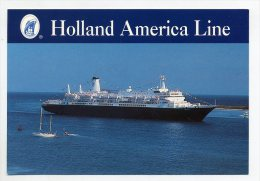 Ms NIEUW AMSTERDAM - Holland America Cruises  ( 2 Scans ) - Steamers