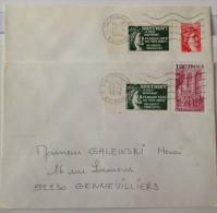 Vignette La Poste Sabine De Bretigny Sur Oise Essonne. Dentelée Et Non Dentelée CAD 23/6/79 17/4/80 Demande De Crédits - Non Classés