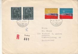 Liechtenstein - Lettre Recommandée De 1959 ° - Oblitération Vaduz - Noël - Exposition Mondiale De Bruxelles 58 - - Liechtenstein