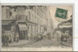 PLAINE SAINT DENIS N 255 IMPASSE MARTEAU  TABAC F. MAZUEL PERSONNAGES Pli Coin Haut Droite - Autres Communes