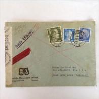 LetDoc. 155. Lettre Censurée Envoyée De Bochum En Allemagne à Dour Près De Mons En 1941 - Briefe U. Dokumente