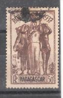MADAGASCAR 1937 , Exposition Internationale De  Paris, Yvert N° 196 , 50 C Brun Obl ,TB - Madagaskar (1889-1960)