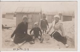 62 - BERCK PLAGE / CARTE PHOTO 1919 - Berck
