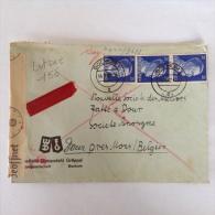 LetDoc. 156. Lettre Envoyée De Bochum 1 En Allemagne Vers Dour Près De Mons En Belgique En 1942. - Briefe U. Dokumente