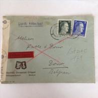 LetDoc. 179.   Lettre Envoyée De Bochum En  Allemagne Vers Dour  En Belgique En 1942. - Alemania