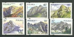POLAND MNH ** 3405-3410 Sommets Du Parc Tatra Montagne Giewot Krzesanica Swinica Kosciekec Rysy Mieguszowieckie Szczyty - 1944-.... Republik