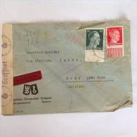 LetDoc. 182.  Lettre Envoyée De Bochum En  Allemagne Vers Dour  Près De Mons En Belgique En 1942. Languette Sur Timbres - Briefe U. Dokumente