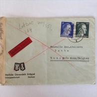 LetDoc. 184.  Lettre Censurée Envoyée De Bochum En  Allemagne Vers Dour  Près De Mons En Belgique En 1942. - Briefe U. Dokumente