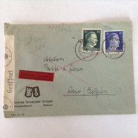 LetDoc. 186. Lettre Censurée Envoyée De Bochum En  Allemagne Vers Dour  Près De Mons En Belgique En 1942. - Briefe U. Dokumente
