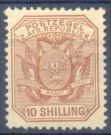 Transvaal 1895. 10s Pale Chestnut. SACC 218*, SG 212a*. - Südafrika (...-1961)