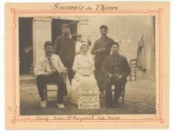 63 - THIERS - 1915 - HÔPITAL TEMPORAIRE N° 11 - INFIRMIERE ET POILUS NOMMES - RARE PHOTOANCIENNE FORMAT PROCHE CPA - Thiers