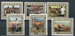 Rwanda - 1975 - MNH ** - COB 698/703 - Mi 760/765 - Jaar productie - Annee de production