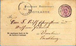 Gaienhofen Hemmenhofen - Ganzsache 1883 Nach Dornbirn - Germania