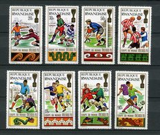 Rwanda - 1970 - MNH ** - COB 354/361 - Mi 384A/391A - World Championship Voetbal Football Soccer - Mexico