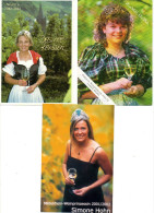 Weinprinzessin Wijnprinses Princess  Wine Wein Wijn Vin (3 Pcs - 2 Foto 1 Card)  Duitsland Deutschland Germany - Vignes