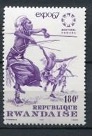 Rwanda - 1967 - MNH ** - COB 204C (from BL7) - Mi 217 (from BL 9A) - World Exhibition Montreal - 1962-69: Neufs