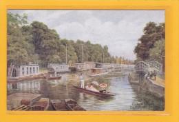 ROYAUME-UNI - ANGLETERRE - OXFORDSHIRE - OXFORD - ILLUSTRATEURS - A.R. QUINTON - College Barges Folly Bridge Oxford - Quinton, AR