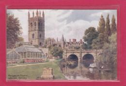 ROYAUME-UNI - ANGLETERRE - OXFORDSHIRE - OXFORD - ILLUSTRATEURS - A.R. QUINTON - Magdalen College & Bridge Oxford - Quinton, AR