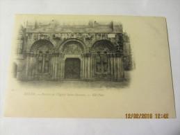 Cpa  DINAN (22) Portail De L´église Saint Sauveur - Avt 1903 - Dinan
