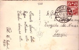 LATVIA-LETTLAND-STAMPS-POSTCARD CANCEL RUBENE VIDZ.B 1932 - Lettonie