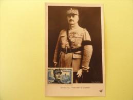 CARTE MAXIMUM CARD MARECHAL FRANCHET D'ESPEREY ALGERIE - Cartoline Maximum