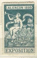 ERINNOFILO   ALENCON 1898 EXPOSITION - Vignetten (Erinnophilie)