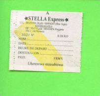 RWANDA - Stella Express Bus Ticket - World