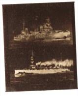 """negatif photo de  2 cpa CATASTROPHE DE LA """"LIBERTE 1911, AVANT L EXPLOSION+CROISEUR CUIRASSE LA """"marseillaise"""" (LOT AC1)"""