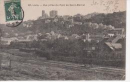 02 - LAON  - VUE PANORAMIQUE  - VOIES DE CHEMIN DE FER  PRIS DU PONT SAINT MARCOL