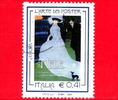 ITALIA - Europa - 2003 -  Europa - 48ª Emissione - 0,41 € • Donna Vestita Di Azzurro - MELE - 6. 1946-.. Repubblica