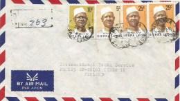 Sierra Leone 1978 Moyamba President Siaka Stevens 5c 10c 25c Registered Cover - Sierra Leone (1961-...)