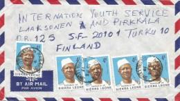 Sierra Leone 1978 Kailahun President Siaka Stevens 4c Cover - Sierra Leone (1961-...)