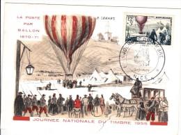 CM Journée Du Timbre De 1955 - Maximum Cards
