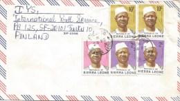 Sierra Leone 1978 Pucehon President Siaka Stevens 1c 2c 10c Cover - Sierra Leone (1961-...)