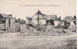 02 -  LA FERE EN TARDENOIS   - RUIENS DE LA RUE DE L'ESPLANADE  GUERRE   1918