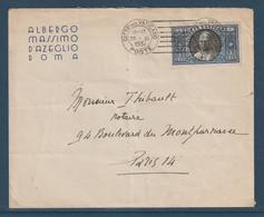 Lettre Vatican Affranchie 1,25lire - 1921-1960: Modern Period