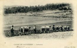 AUBRAC - (48) - CPA N°78 - CAUSSE DE SAUVETERRE - Laboureurs - France