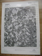 GRAND PHOTO VUE AERIENNE 66 Cm X 48 Cm De 1979  JURBISE HERCHIES - Cartes Topographiques