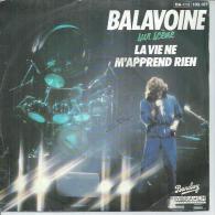 """45 Tours SP - DANIEL BALAVOINE - RIVIERA 100167 -   """" LA VIE NE M´APPREND RIEN """" + 1 - Discos De Vinilo"""