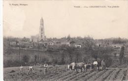 CPA 1909 - Chambretaud Vendée - Attelage De Boeufs - Agriculture - Ed. Poupin Mortagne - 2 Scans - France